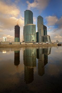 Moscow-City - Moscow. New office, business center in Moscow.