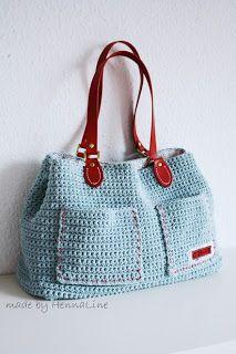 Trendy Ideas for knitting bag sewing crochet Crochet Purse Patterns, Bag Patterns To Sew, Knitting Patterns, Sewing Patterns, Knitting Yarn, Crochet Handbags, Crochet Purses, Crochet Bags, Crochet Baskets