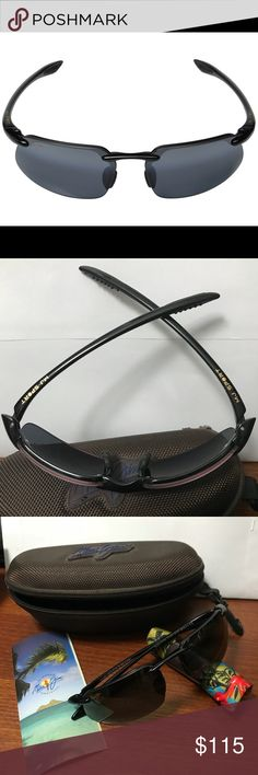 Maui Jim Kanaha MJ Sport Sunglasses Black w/ Case Amazing sunglasses. Brand new, comes with Maui Jim hard case and a pouch. They are extremely lightweight, comfortable and durable. Ready to ship! Maui Jim Accessories Sunglasses