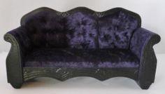 OOAK Purple Gothic Velvet Couch for Barbie Monster High Ever After High Dolls   eBay