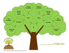 Printables - Growing Little Leaves: Genealogy for Children Family Tree For Kids, Free Family Tree, Step Kids, Free Website, Halloween Cards, Ancestry, Family History, Genealogy, Printables
