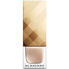 Burberry Nail Polish Gold No.447 Limited Edition ($22) ❤ liked on Polyvore featuring beauty products, nail care, nail polish, makeup, beauty, nails, burberry, opi nail lacquer et nail colour