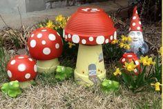 Clay Pot Toadstools