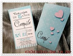 TARJETAS.NET.UY Tarjetas de 15 años Estetica hipster New York Party, Candy Party, Tiffany And Co, Baby Cards, Quinceanera, Wedding Invitations, Birthdays, Card Making, Place Card Holders