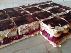 Sweet Desserts, Easy Desserts, Hungarian Desserts, Cookie Recipes, Dessert Recipes, Dessert Bars, Creative Food, No Bake Cake, Yummy Treats