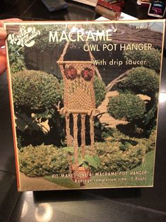Hazels Kaboodles Macrame Owl Pot Hanger Macrame' Kit Pattern Included Vintage  | eBay