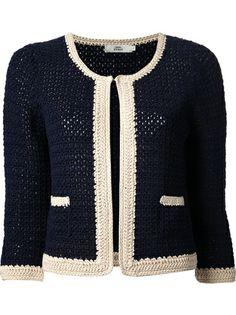 0039 ITALY Cropped Crochet Cardigan
