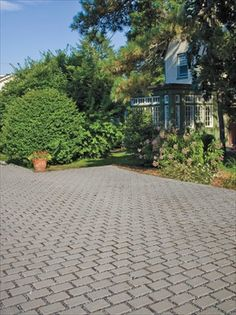Could be nice for part of the yard. Permeable Driveway, Driveway Landscaping, Driveway Ideas, Driveways, Walkways, Landscaping Ideas, Love The Earth, Water Pollution, Paving Stones