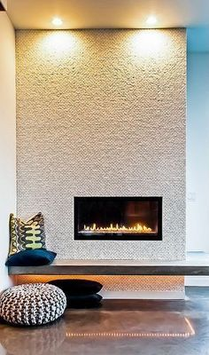 floating concrete mantle. Incredible, modern built-in gas fireplace. (scheduled via http://www.tailwindapp.com?utm_source=pinterest&utm_medium=twpin&utm_content=post29464020&utm_campaign=scheduler_attribution)
