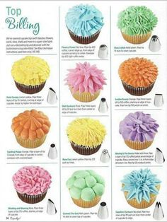 Cake Decorating Nozzle patterns