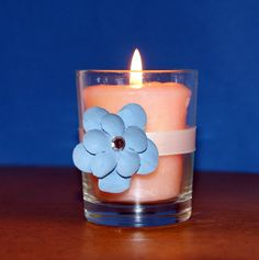 Wedding Votive Candle Holder / Light Blue by CarolesWeddingWhimsy, This set of 6 Tiffany Blue and Antique White Votive Candle Holder has a lovely flower with a rhinestone in it.  It is perfect for your Bling Wedding Decor, Shabby Chic Wedding, Winter Wedding, Bridal Shower , Baby Shower or any special occasion.  It is the perfect gift for the candle lover too. You can find it here https://www.etsy.com/listing/236344805/wedding-votive-candle-holder-light-blue