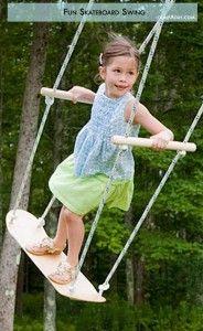 Summer fun Ideas- skateboard swing
