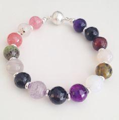 Multicoloured agate bracelet by Hellenna on Etsy, £10.00