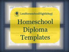 Homeschool Diploma Templates - free downloads!