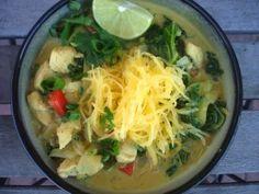 PaleOMG – Paleo Recipes – Chicken Coconut Curry Noodle Bowl