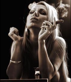 Cigar Smokin Hotties