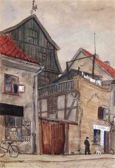 Kaunas, old houses Мстислав Добужинский · 1931