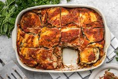 This Vegan Eggplant Lasagna is free from Gluten, Dairy, and Grains, but not on flavor! A hearty, healthy, and cozy dinner option.
