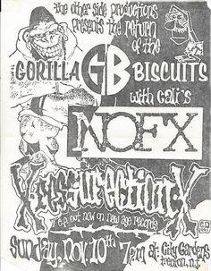 Gorilla Biscuits + NOFX concert poster