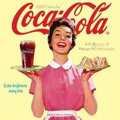 vintage diner cocacola ad waitress