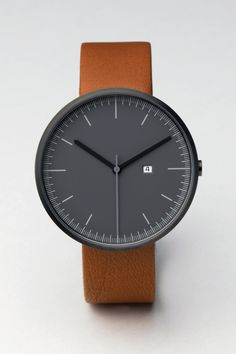 200 Series Calendar watch | 202/RG-01 | PVD Gun Grey / Tan Leather | about $381 US dollars - not sure where to buy in the U.S.