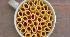 You can make these eye-catching mini rigatoni pasta pies in a coffee mug. Just rigatoni pasta, melted mozzarella cheese, marinara sauce, and fresh basil. Use GF pasta. Rigatoni Pasta Pie, Pasta Casserole, Pasta Bake, Mug Recipes, Pasta Recipes, Cooking Recipes, Cooking Pasta, Rigatoni Recipes, Cake Recipes