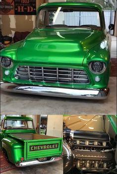 55 Chevy Truck, Custom Trucks, Old Trucks, Car, Vehicles, Chevy Pickups, Automobile, Autos, Cars