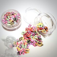 Millefiori Butterfly Bright Clay Cane Slices - Small Jar for Clay & Resin Paper Butterfly Crafts, Polymer Clay Canes, Clay Design, Clay Projects, Slime, Resin, Wax, Bright, Lima