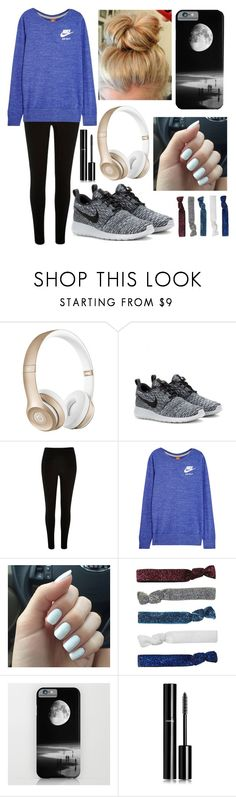 """nike"" by micaela-ann ❤ liked on Polyvore featuring Beats by Dr. Dre, NIKE, River Island, Monki, Chanel, women's clothing, women's fashion, women, female and woman"