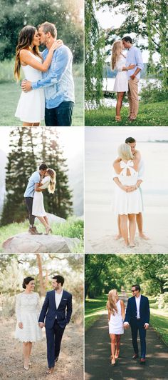 What to Wear for Engagement Photos 2018 Spring Summer Outfit Trends! Little White Dresses