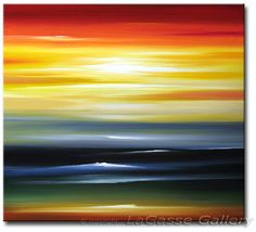 'PACIFIC SUNSET' - LaGasse painting