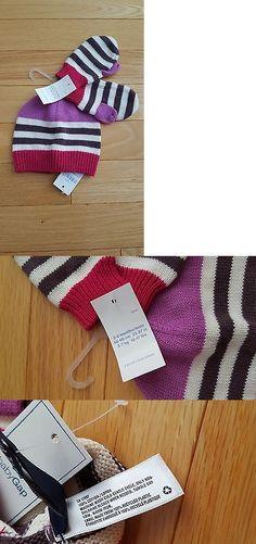 e7bacfc7925 NWT Infant Girls  babyGap Cotton Hat   Mitten Set