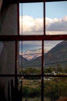 View through window overlooking the village of Prince Albert Prince Albert, Sunrise, Scenery, Farmhouse, African, Cottage, Windows, World, The World
