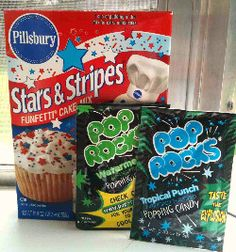 Sprinkle Pop Rocks On Top Of Your Cupcakes For The Fireworks Feel