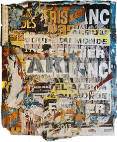 Buy CRBV16, a Paper on Paper by Christian Gastaldi from France. It portrays: Abstract, relevant to: tears, textures, Paris, France, street art, Courbevoie Torn posters glued together.  Part of a series made from posters collected in Courbevoie near Paris (France)