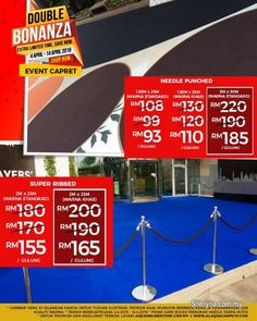 Other for sale, RM93 in Klang, Selangor, Malaysia. Event Carpet With Best Double Bonanza Promo - Get Best with Cheap Price     BEST EVENT CARPET OFFER Carpet Cover, Ad Home, Ikea Office, Bamboo Blinds, Moving Boxes, Custom Charms, Carpet Sale, Free Ads, Products