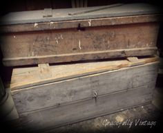 Weathered Old Wood Boxs