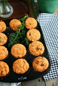 Cold Oven Gluten Free Red Lentil Muffins with Sundried Tomatoes