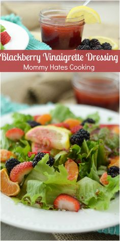 Blackberry Vinaigrette Dressing is a light and delicious addition to a fresh salad.