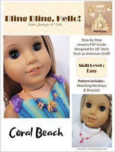 Coral Beach Doll Jewelry Pattern