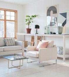 Recycled fabrics   IKEA Mellby armchair in Sand Beige Brunna Melange cover by Bemz   www.bemz.com