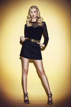 black suede skirt JO-LI