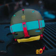 「Sneak peek of our new collection of Topo Designs x @girosnow helmets and goggles launching tomorrow on topodesigns.com and at our Topo retail locations!」