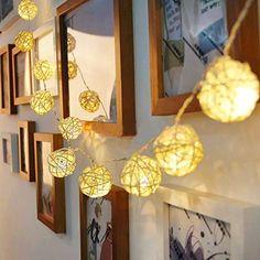 Handmade Rattan Ball String Lights
