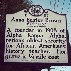 Alpha Kappa Alpha Sorority Inc #1908 #Soror Anna Easter Brown