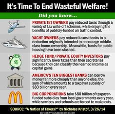 The rich can feed themselves cake...it's  time to let us little guys have some bread.