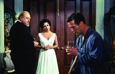 "Paul Newman, Elizabeth Taylor and Burl Ives in ""Cat on a Hot Tin Roof"" (1958)"