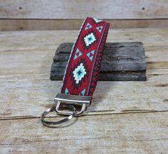 Aztec Fabric Wristlet Keychain, Fabric Wrist Key Fob, Fabric Wristlet Key Fob, Wrist Key Holder, Wristlet KeyChain, Native, Tribal, Navajo by twstitchanddesign on Etsy