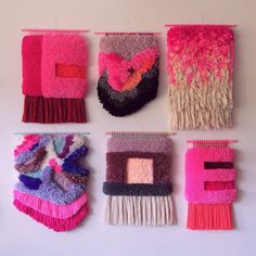 Woven wall hangings, by jujujust, on Etsy