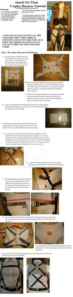 Attack on Titan Harness Tutorial Part 1 by CasuallyDisregarding